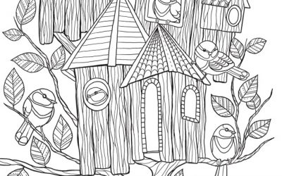 bird houses to color | Birdhouse-Coloring-Pages-017 | Coloring ... | 250x400
