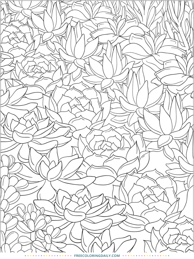 Pretty Plant Coloring – Free!