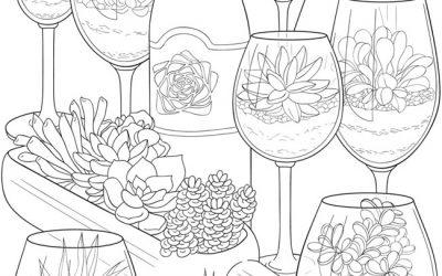 Free Succulent Coloring