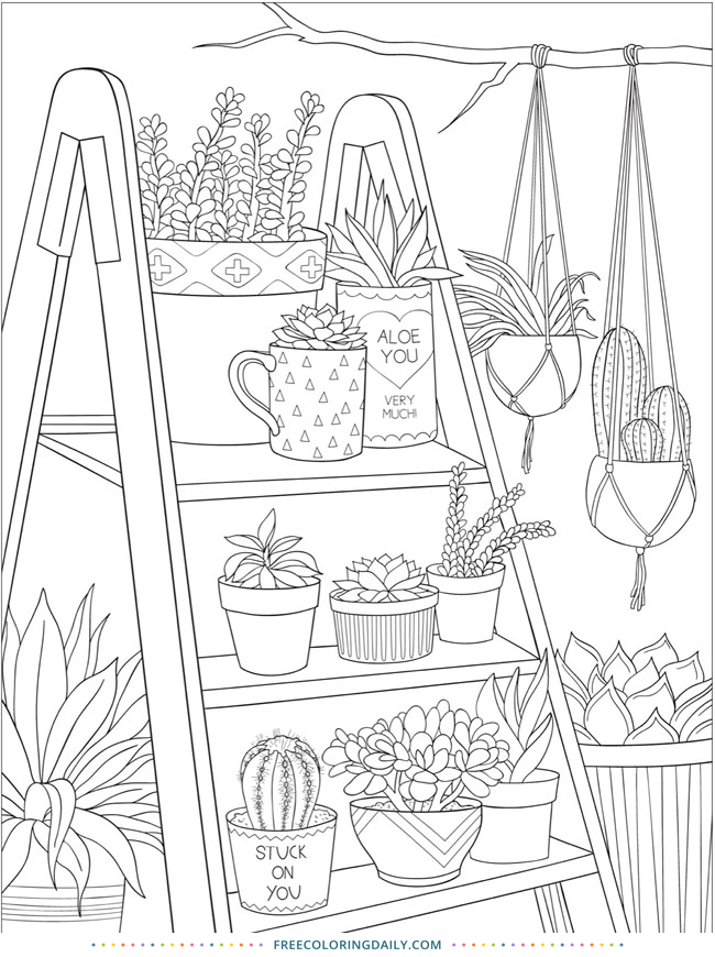Free Plants Coloring Page