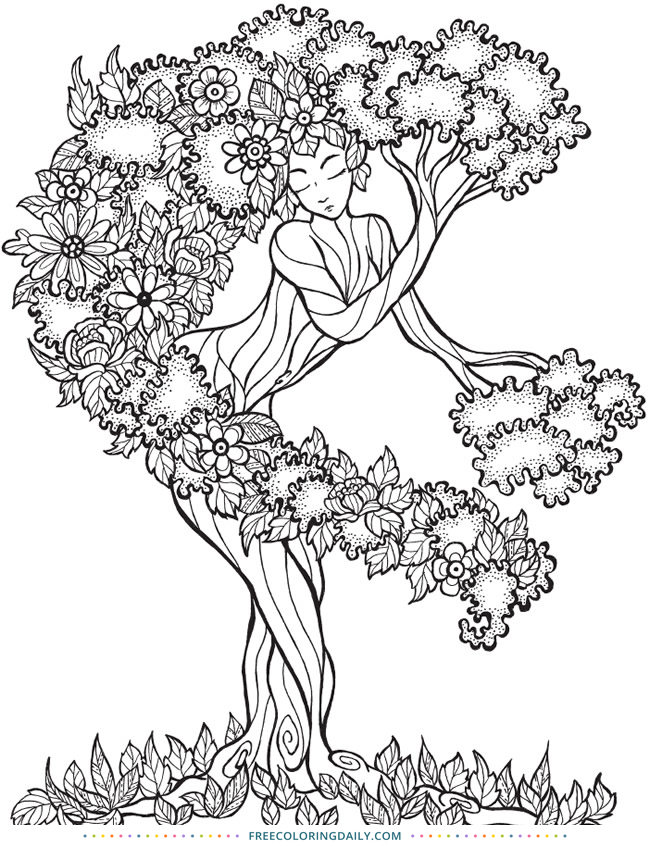 Free Tree Coloring Page