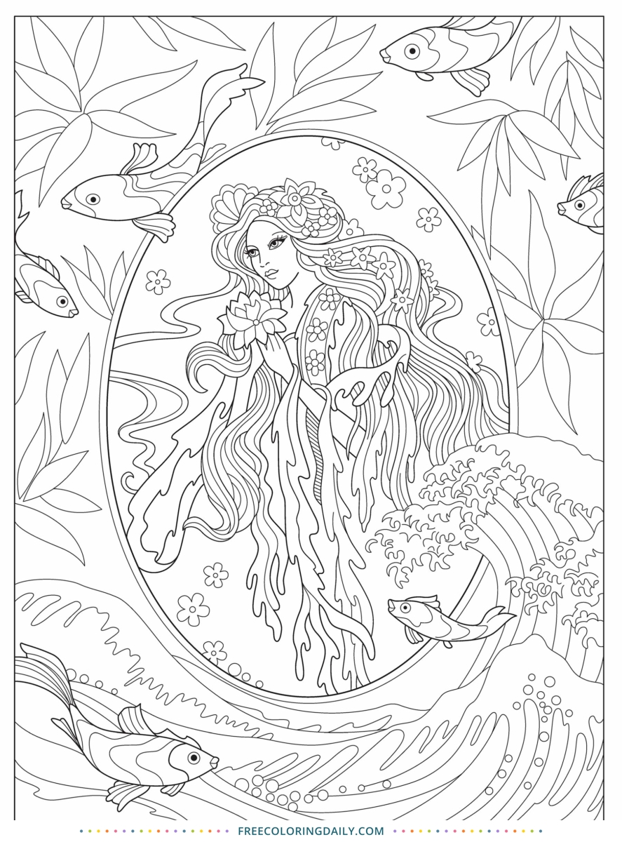 Free Beautiful Coloring Page