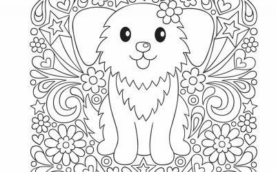 Free Cute Puppy Coloring