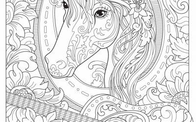 Free Horse & Guitar Coloring