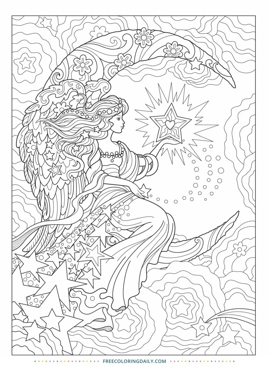 Free Fantasy Coloring Page