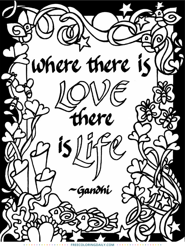 Free Quote Coloring Page
