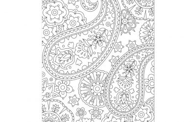 Free Pretty Paisley Coloring