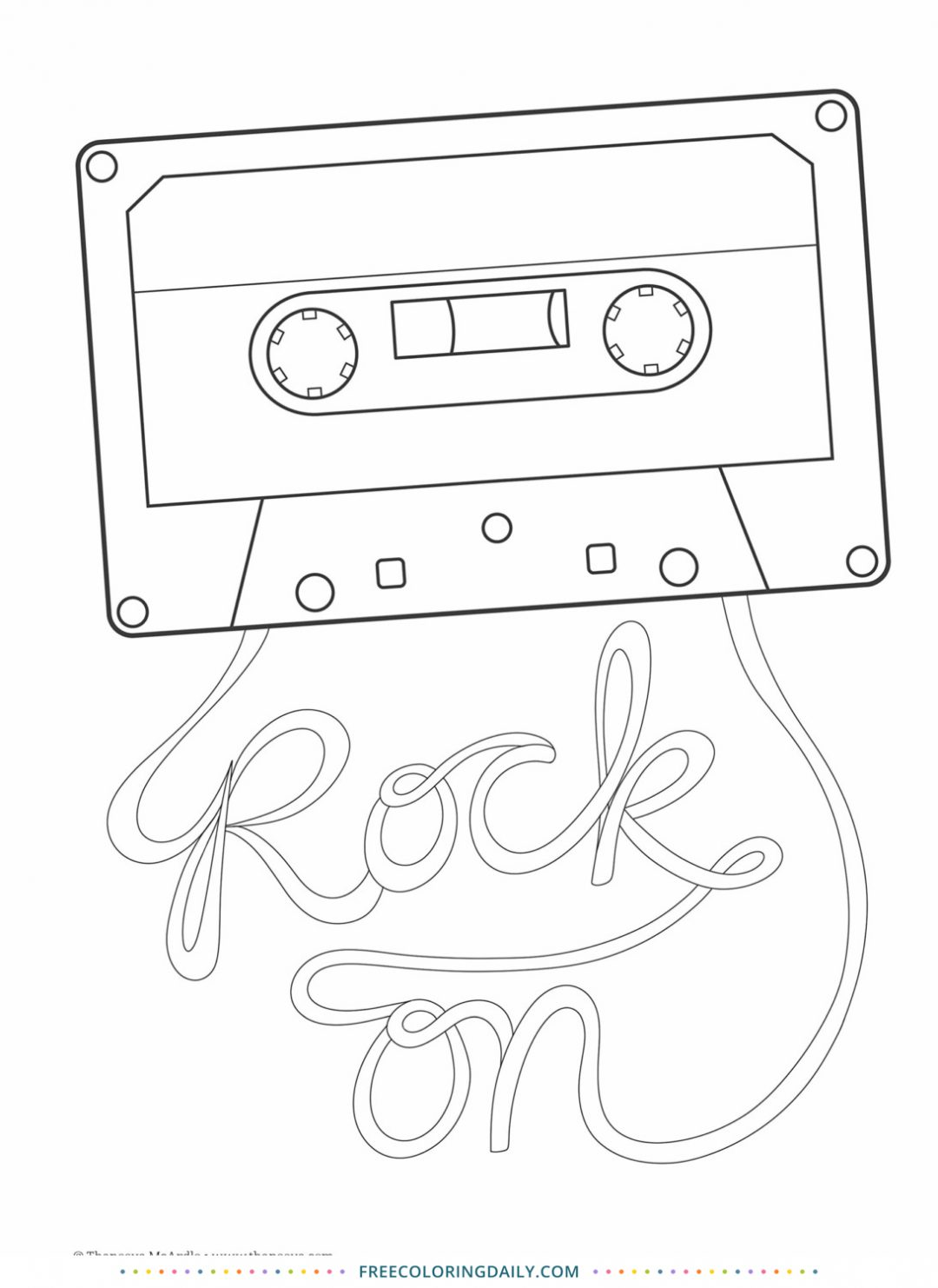 Free Rock On Coloring