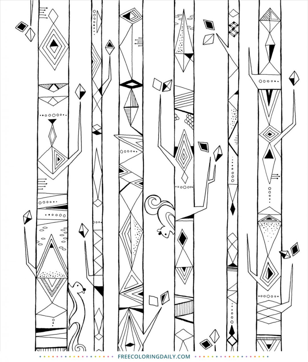 Free Geometric Patterns Coloring