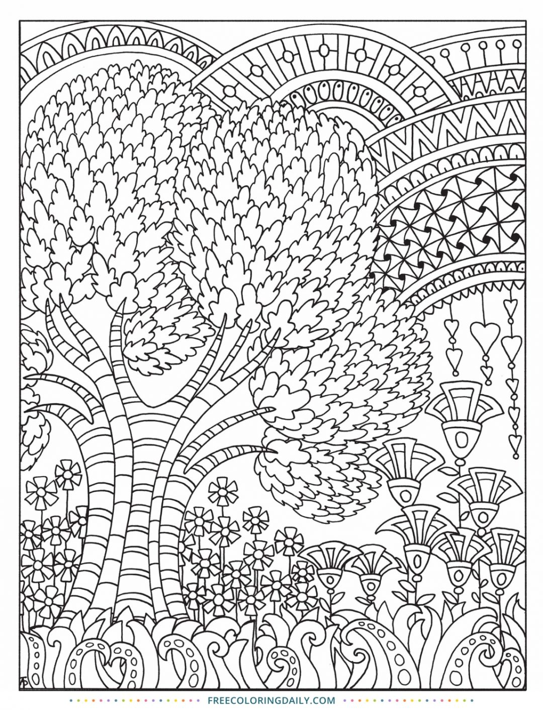 Free Outdoor Pattern Coloring