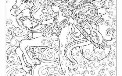 Free Unicorn Princess Coloring Page
