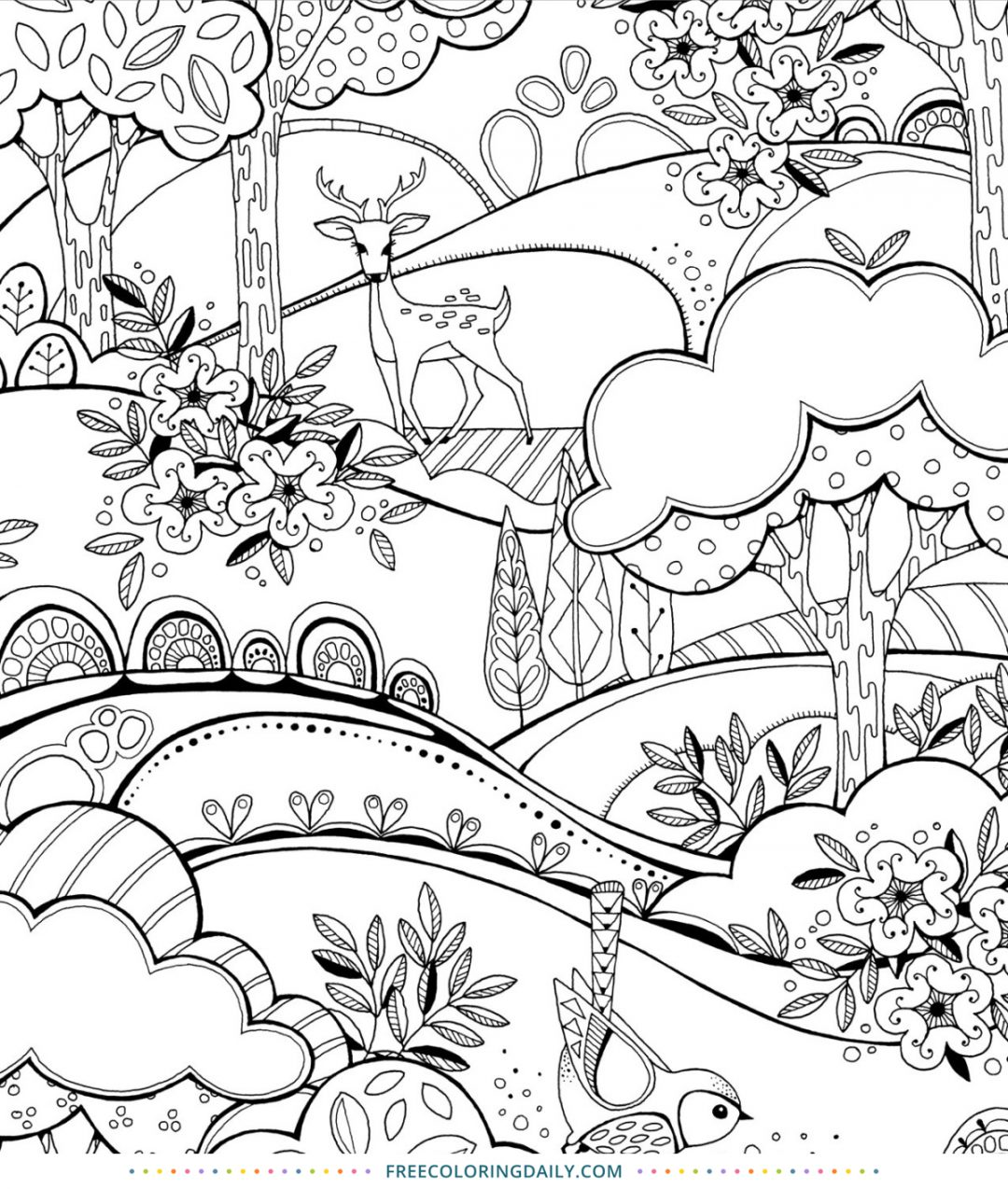 Free Fantastic Forest Coloring