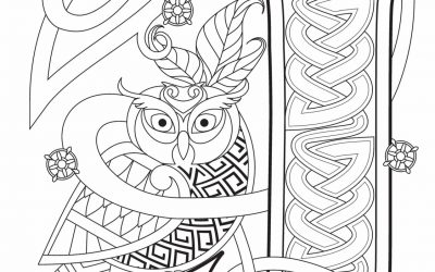 Free Celtic Lettering Coloring