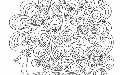 Free Fun Peacock Coloring Page