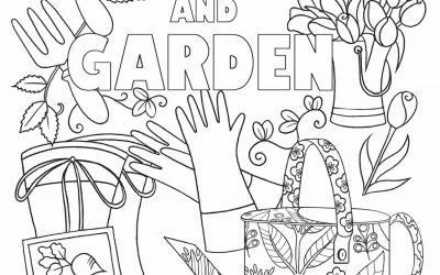 Free Keep Calm & Garden Coloring