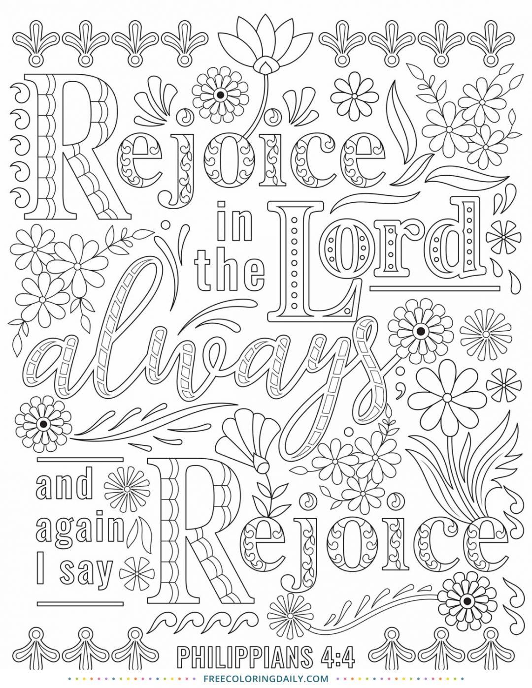 Free Scripture Coloring