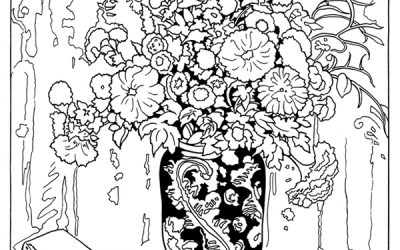 Free Gorgeous Floral Arrangement Coloring