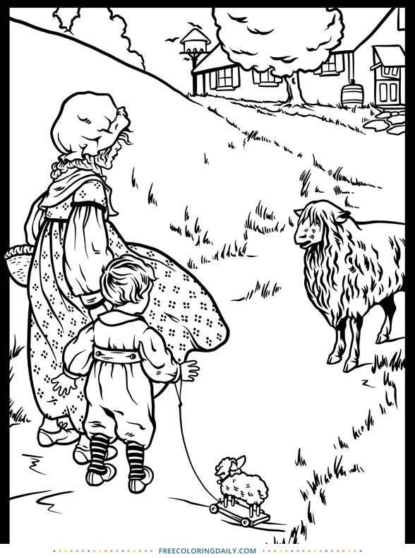 Free Nursery Rhyme Coloring