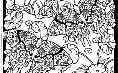Free Garden Creatures Coloring