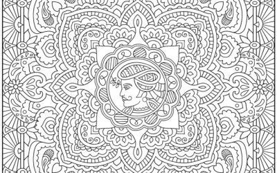 Free Manadala Coloring Page
