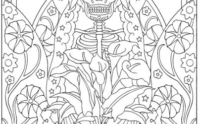 Free Folk Art Coloring Page