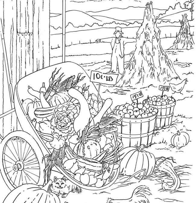 Free Autumn Harvest Coloring