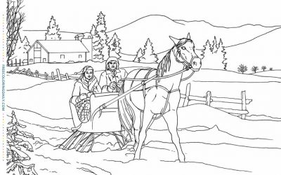 Free Sleigh Ride Coloring Page