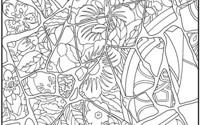 Free Nature Pattern Coloring Page
