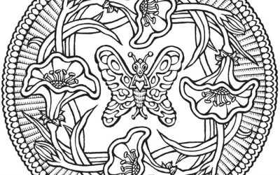 Free Vintage Butterfly Coloring