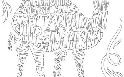 Free Word Camel Coloring
