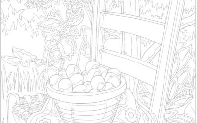 Free Fruit Picking Coloring Page