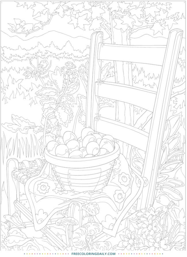 Free Fruit Picking Coloring Page