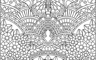 Free Garden Pattern Coloring