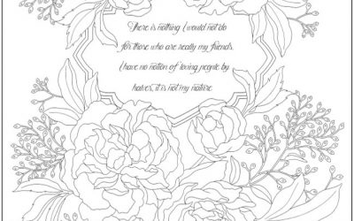 Free Jane Austen Quote Coloring