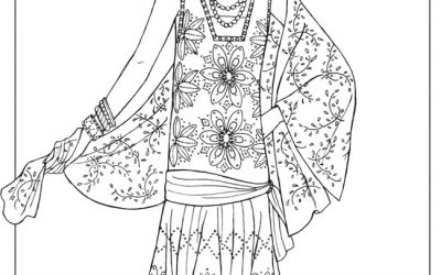 Free Vintage Fashion Coloring