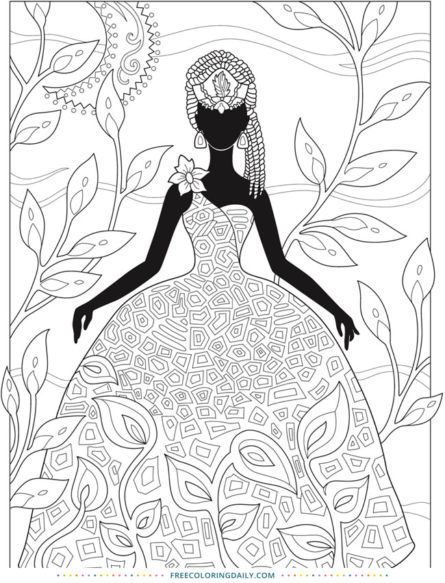 Free Fashion Coloring Page