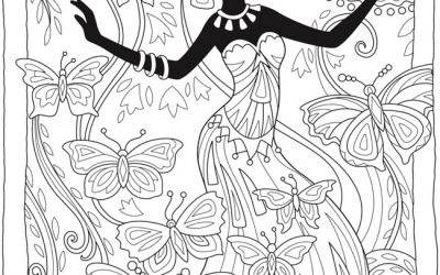 Free Butterfly Queen Coloring