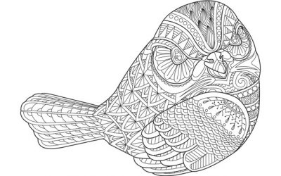Free Zentangle Bird Coloring Page
