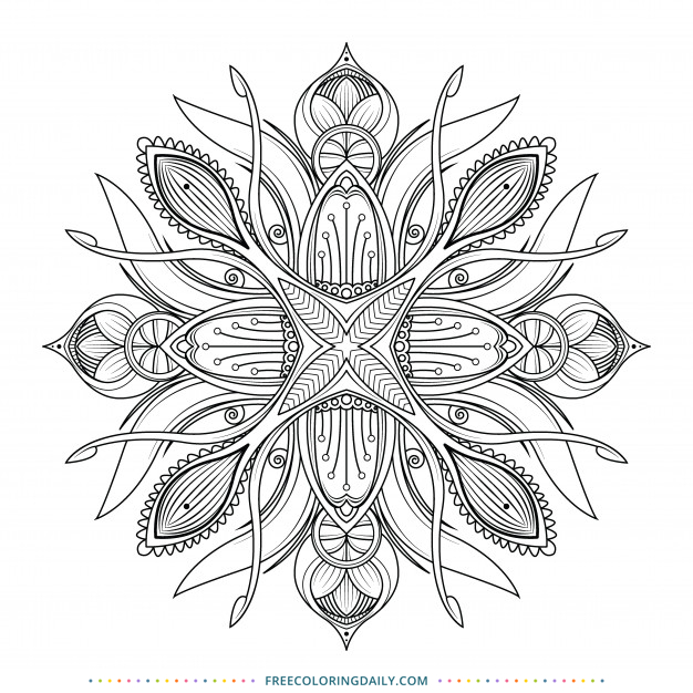 Free Nature Mandala Coloring