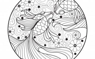 Free Goldfish Zentangle
