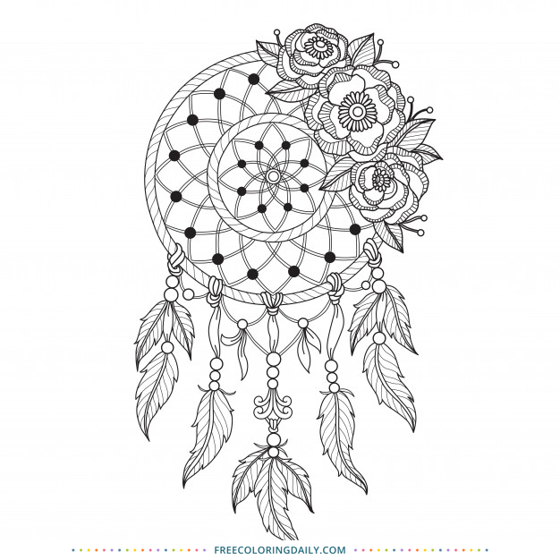Free Dream Catcher Coloring