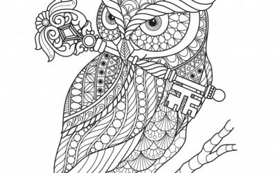 Free Owl Zentangle Coloring Page