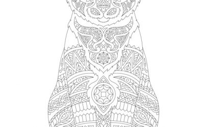 Free Animal Pattern Coloring Page