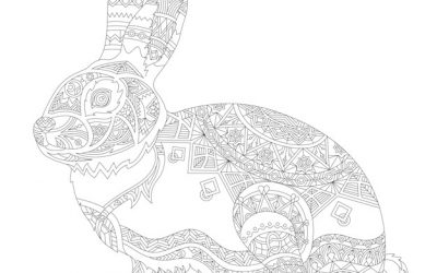 Free Patterned Bunny Coloring