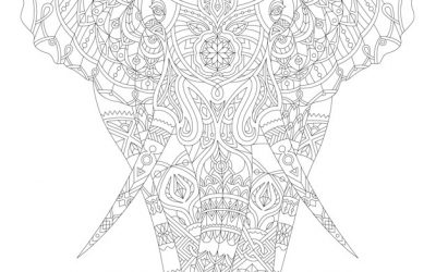 Free Elephant Coloring Sheet