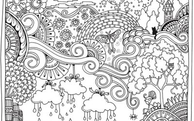 Free Fantastical Coloring Page