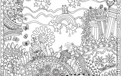 Free Magical Scene Coloring Page