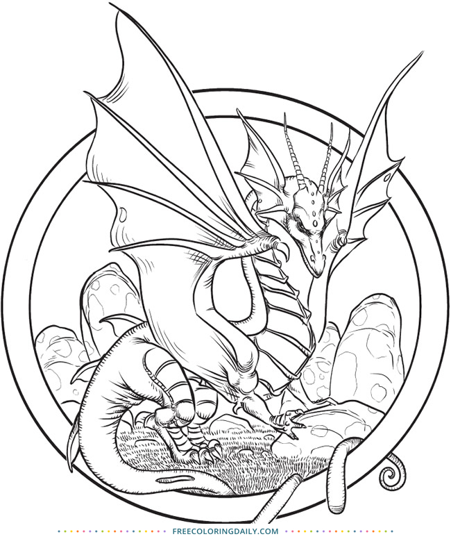 Free Amazing Dragon Coloring