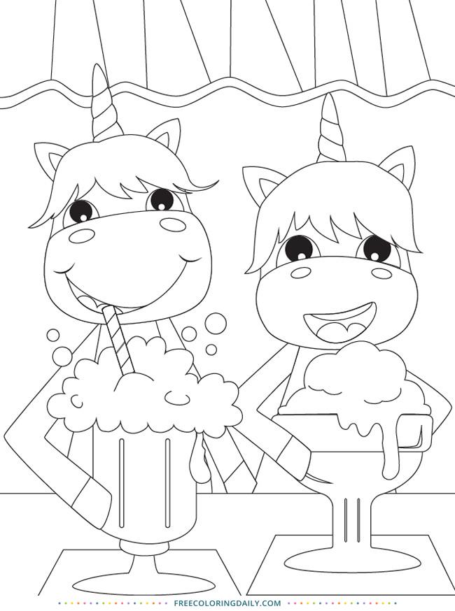Fun & Free Unicorn Coloring