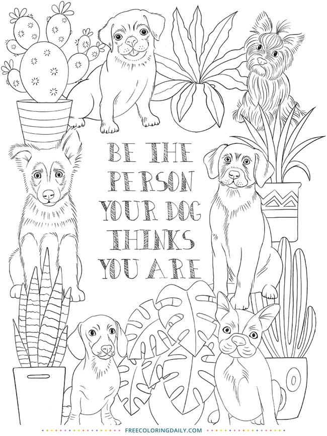 Free Fun Dog Coloring Page